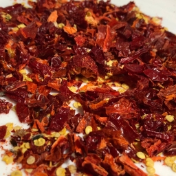 Making Crushed Red Pepper, just like when life gives you lemons…
