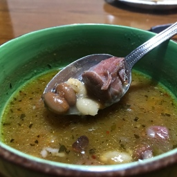 Ham shank and bean homestead soup