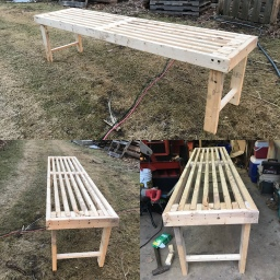 How To Build a Greenhouse Bench For Under 20 Dollars